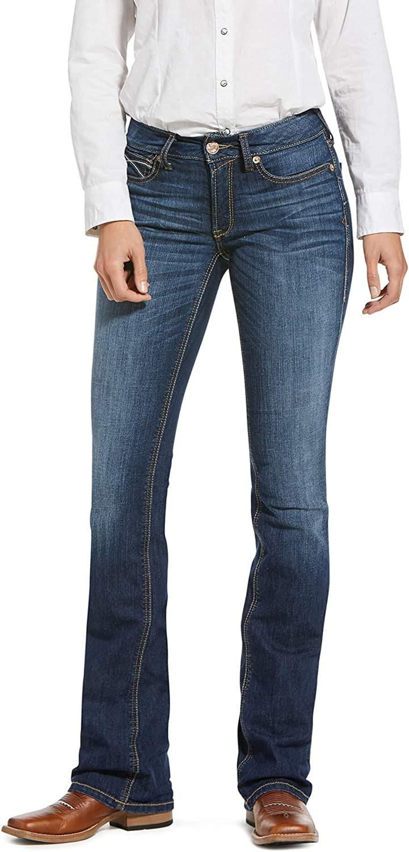 ARIAT Women's Fixed price for Philadelphia Mall sale R.e.a.l. Perfect Rise Stretch Boot Rosa L Cut Jean