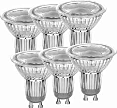 Fusheng Dimmable MR16 GU10 LED Bulbs 7W Replace 50W Halogen Bulbs MR16 Cob Bulbs GU10 Base 600LM 3000K Warm White 40°Beam Angle Spotlight with 120V Recessed Light Track Light. (3000K) UL Listed