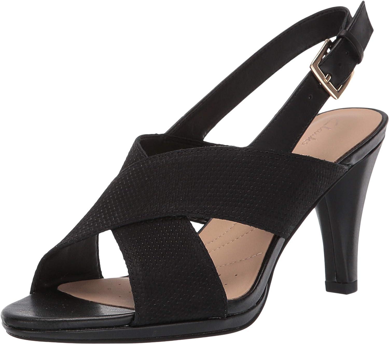 Clarks Women's Dalia Lotus Heeled Sandal