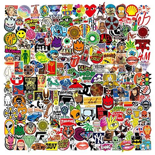 PRETTYSUNSHINE Aufkleber Pack 200 Stück, Coole Graffiti Sticker Decals, Trendy Wasserdicht Vinyl Stickers für Laptop Koffer Helm Motorrad Skateboard Auto Fahrrad MacBook Vintage Aesthetic Sticker