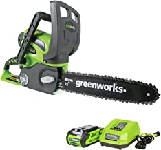 Greenworks 12-Inch 40V Cordless Chainsaw, 2.0 AH Battery and Charger Included 20262
