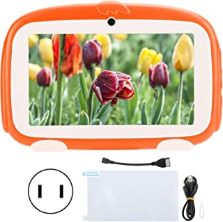 Kids Tablet,Cute Tablet,1GB+16GB, Children's Tablet,HD,for Android 9.0, Learning EReader, 7in, Orange,100240V,Leaning Mach...