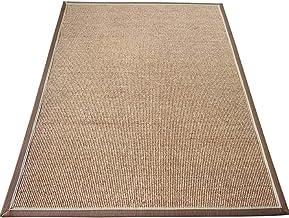 YANZHEN Hallway Runner Rugs Non-Slip Back Cotton Border Living Room Study Room Linen Weaving Carpet, Thickness 1cm (Color ...