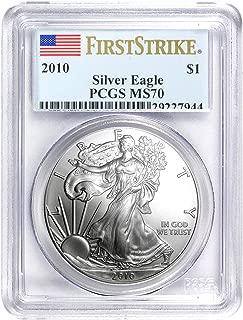 2010 silver eagle ms70
