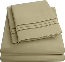 1500 Supreme Collection Bed Sheet Set - Extra Soft, Elastic Corner Straps, Deep Pockets, Wrinkle & Fade Resistant Hypoalle...