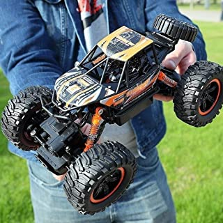 AXWT Desktop Decoration 4x4 High Speed Remote Control Car Strong Horsepower Outdoor Off Road RC Truck Professional 2.4G Electric Racing Vehicle Model with Rechargeable Battery