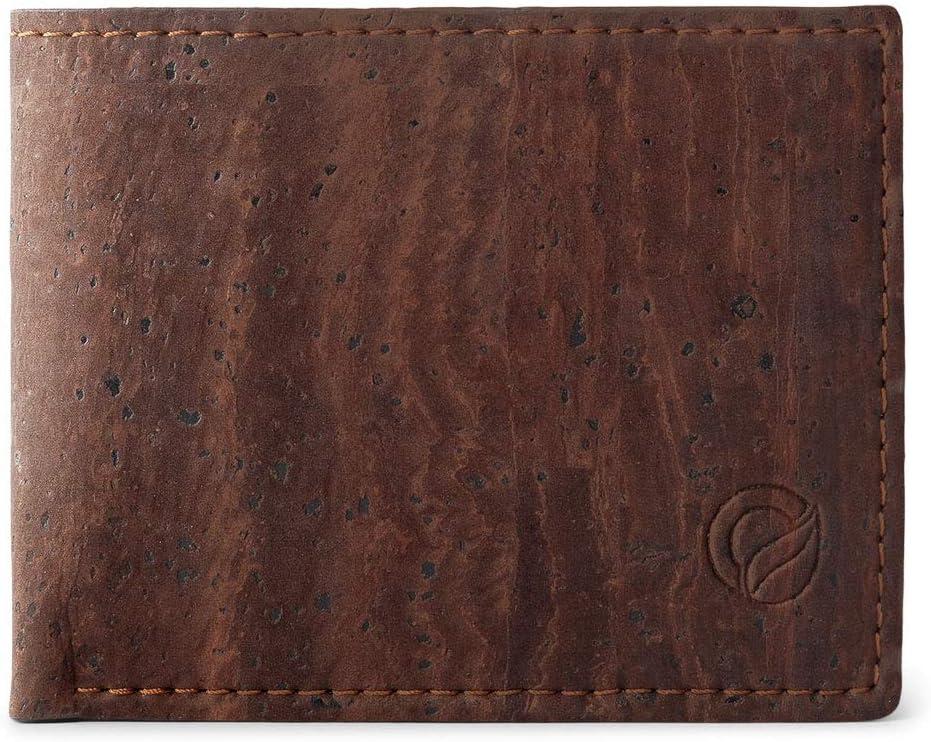 Corkor Cork Wallet for Men | Vegan Cruelty Free Non Leather | Bifold Cards Cash Brown Color