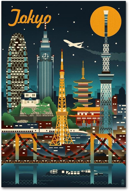 Trademark Fine Art ALI09913C1219GG Travel 126 by Lantern Press, Canvas Wall Art, 12x19