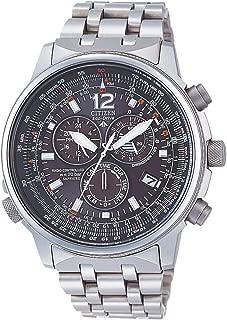 AS4050-51E - Reloj cronógrafo Ecodrive para hombre, correa de titanio color plateado