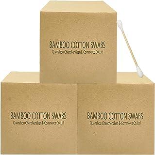(7.6cm 1200pcs) - 1200pcs Wooden Cotton Swabs/Organic Eco Friendly Biodegradable Cotton Buds