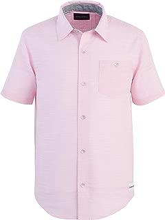 Calvin Klein Boys' Big Short Sleeve Slub Shirt