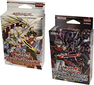 YuGiOh Saber Force & Dark Legion Starter Decks 1st Ed by KOMAMI