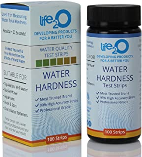 Water Total Hardness Test Strips 100ct | 99% Accuracy Hard Water Testing Kit with 0–25 GPG Optimized Range | Calcium & Magnesium Tester for Water Softener, Aquarium, Pool, Spa, Drinking & Well Water