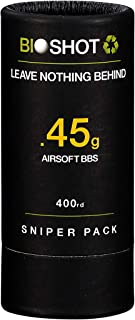 BioShot .45g 400 Round Sniper Pack Competition Match Grade Biodegradable 6mm Airsoft BBS for All Airsoft Guns