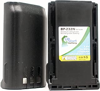 2 Pack - Replacement for Icom BP-231 Battery - Compatible with Icom BP232N Two-Way Radio Battery (2200mAh 7.4V Lithium-Ion)