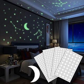Yosemy Luminoso Pegatinas de Pared Luna y Estrellas