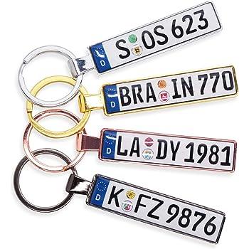 Internetservice Timo Lindner Schl/üsselanh/änger mit individuellem Motorradkennzeichen Nummernschild Motorrad Personalisiert