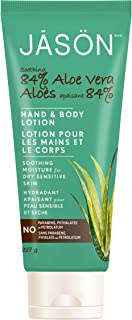 JASON Soothing 84% Aloe Vera Hand and Body Lotion (IASC Certified), 8 Ounce Bottle (Pack of 3)