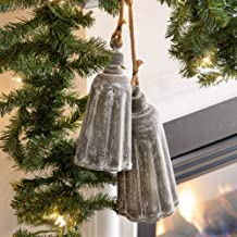 CTW Home Collection Galvanized Holiday Bells, Set of Two