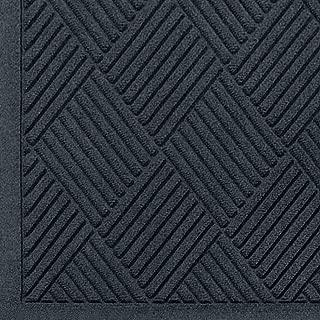 WaterHog Fashion Diamond-Pattern Commercial Grade Entrance Mat, Indoor/Outdoor Medium Brown Floor Mat 5' Length x 3' Width, Charcoal by M+A Matting