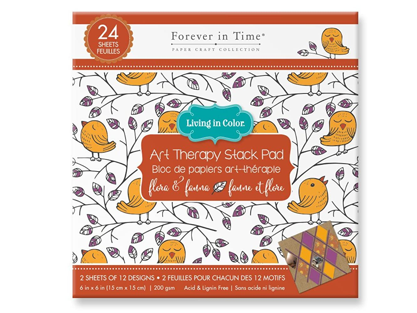 Forever in Time SP628C Living Art Therapy Coloring Paper Pad