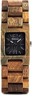 Wood Watch for Women,Small Dial Natural Casual Fashion Quartz Unique Wristwatch