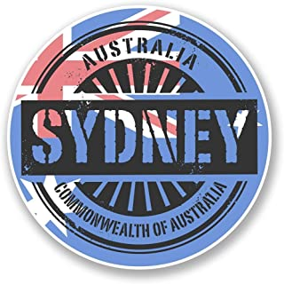 2 x 10cm- 100mm Sydney Australia Vinyl SELF ADHESIVE STICKER Decal Laptop Travel Luggage Car iPad Sign Fun #6113