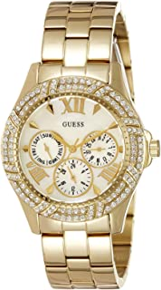 Guess Women's Gold Dial Stainless Steel Band Watch - W0632L2