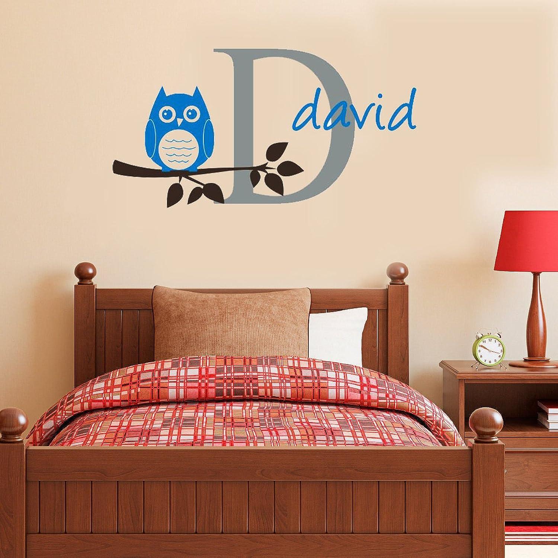 Jmhwall Letter Art Wall Stickers Owl Branch Vinyl Decal for Nursery Kids Room Home Decor 55X45Cm