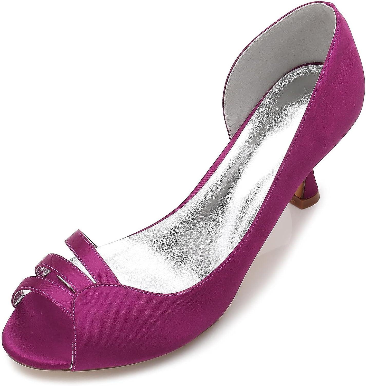 Frauen-Hochzeits-Schuhe E17061-51 KTzchen Mit Mittleren Ausdehnungs-Satin-Braut-Schuhen