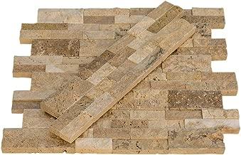 Valencia Travertine Stacked Stone Ledger Panel - Split Face - 6