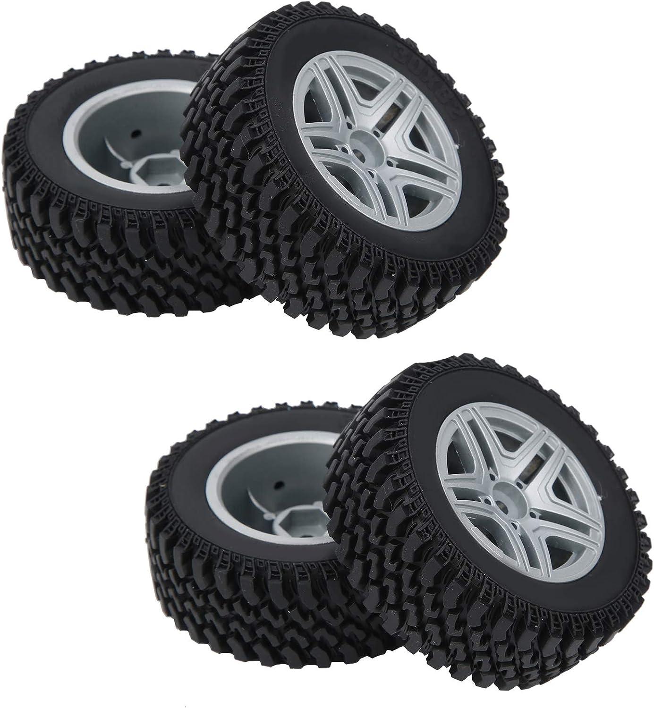 Alomejor 4 Pcs RC Max 72% OFF Car Wheel Hub Set with Racing Tire Wh Max 41% OFF