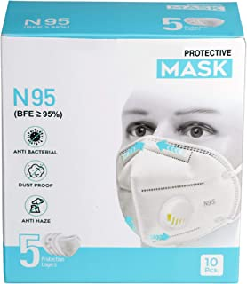 Bebop N95 Face Mask | 5 Layered High Filtration Capacity with genuine Meltblown and Hot Air Cotton | Five Layer Reusable P...
