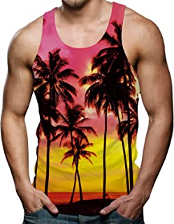 RAISEVERN Funny 3D Printed Tank Tops Mens Summer Sleeveless Vest T-Shirt
