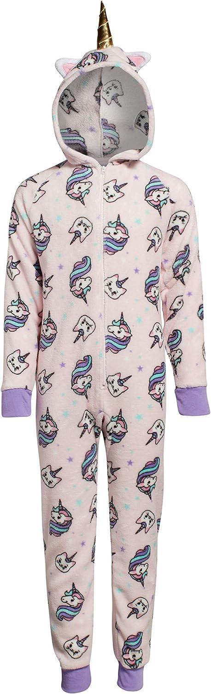 Sleep Co Girls Chicago Mall Sleepwear – free shipping One-Piece Plush Pajamas Fleece
