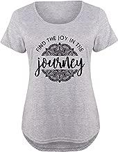 Find The Joy in The Journey - Ladies Plus Size Scoop Neck Tee