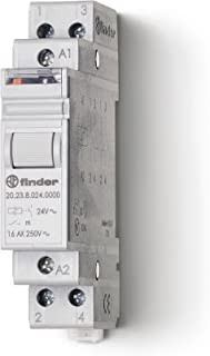 Finder 20.23.9.012.4000 1NC + 1NO 16A, 12V DC Coil, AgSnO2 Contact, 2 Step Impulse/Latching Relay