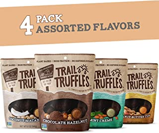 Trail Truffles – Vegan, Paleo Friendly Superfood Protein Balls – Healthy, Plant Based, Gluten Free, Dairy Free, Soy Free, Non-GMO Snacks (Assorted Flavors, 4 Pack)
