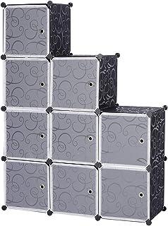 WOLTU SR0055sz DIY Armoire Plastique Chambre Faite de modules avec Porte pour Le Stockage de vêtements, Accessoires, Jouet...