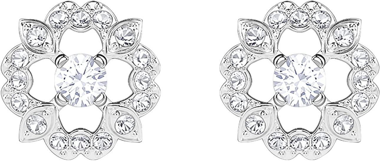 Swarovski Sparkling Flower Pierced Earrings 5396227