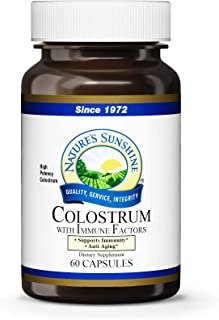 VitaminCity Nature's Sunshine Colostrum with Immune Factors, 60 Capsules | Supports the Immune System and Promotes Gastrointestinal Health