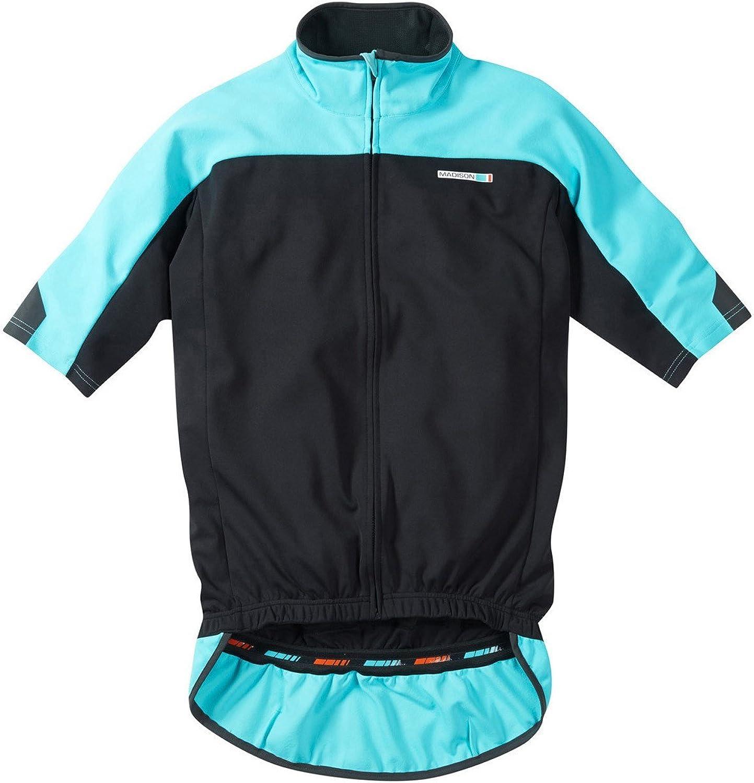 Madison schwarz blau Curaco 2015 Roadrace Optimus Thermal Kurzarm Radsport Triko