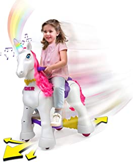 Feber My Lovely Unicorn 12V Ride On - Electric Vehicle- My Unicorn Electronic Pet & Long Pink Hair- Girl 3-7 Years