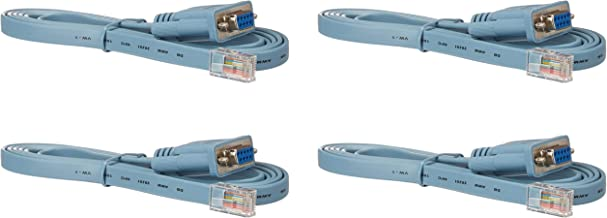 Cisco Compatible 6 ft. Rollover Console Cable RJ45 Male to DB9 Female 72-3383-01 (4PACK)