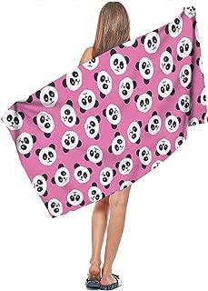 MUYUAXI5 Graphic Cute Panda Premium Unisex 100% Cotton Super Absorbent Pool Towel Multipurpose Hair Towels