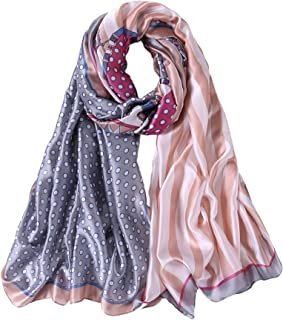 ALBERTO CABALE Pois Stripe Stole Silk Scarf Hair Hijab Vintage Women Fashion Luxury Charm Shawl Summer Accessory Reception