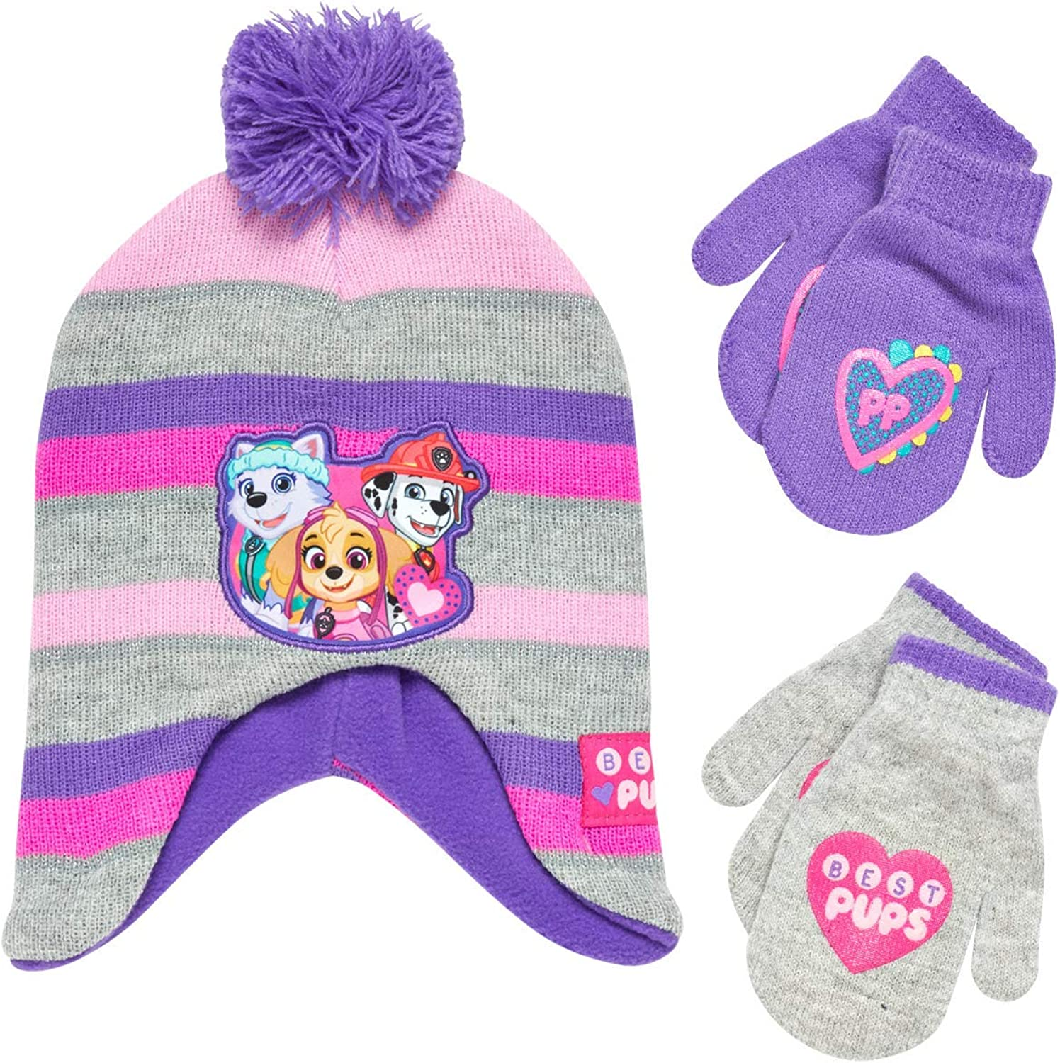 Nickelodeon Paw Patrol Girls Lowest price challenge Winter Hat New product! New type Pair Gl and Mittens or 2