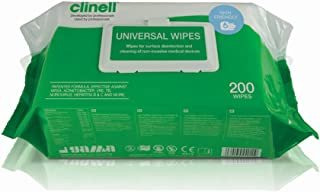 Gama Clinell Antibacterial Hygiene Wipes, 200 Count