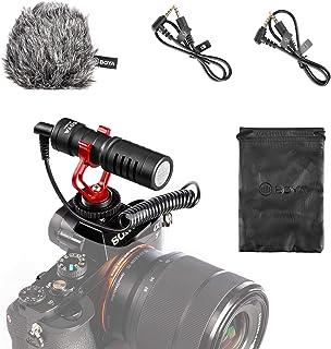 BOYA by-MM1 Shotgun Video Microphone with Shock Mount, Deadcat Windscreen, Case Compatible with iPhone/Andoid Smartphones,...
