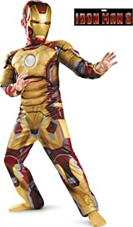 Big Boys' Child Muscle Iron Man Mark 42 Costume - L
